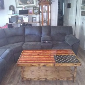 Rustic US Flag Coffee Table
