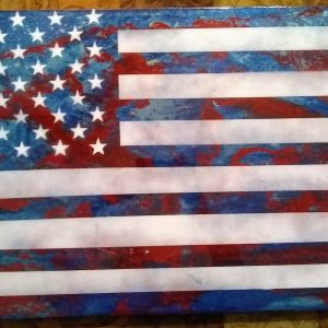 "Flag Art Epoxy Finish Small 24"" x 12"" #1"